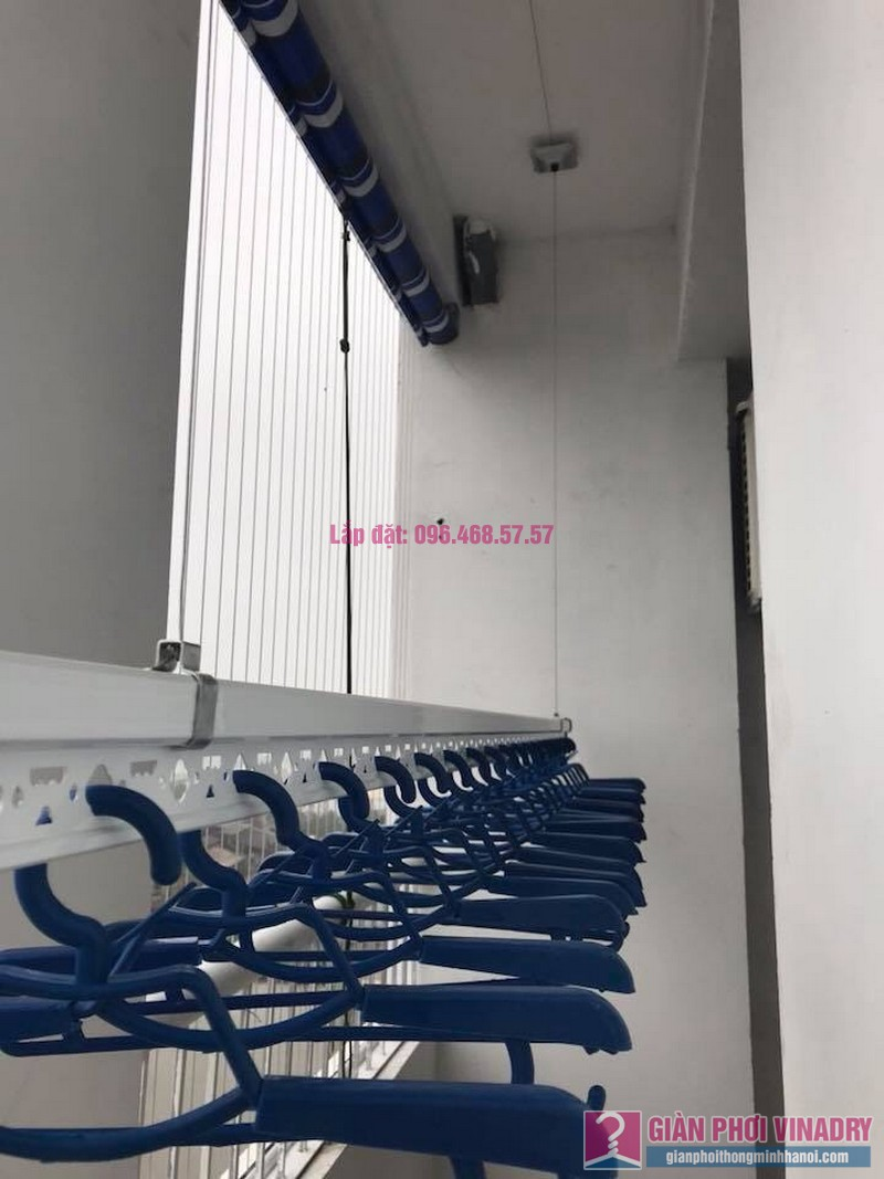 Lắp giàn phơi nhà chị Tuyền, chung cư Lộc Ninh Singashine, Chương Mỹ, Hà Nội - 04