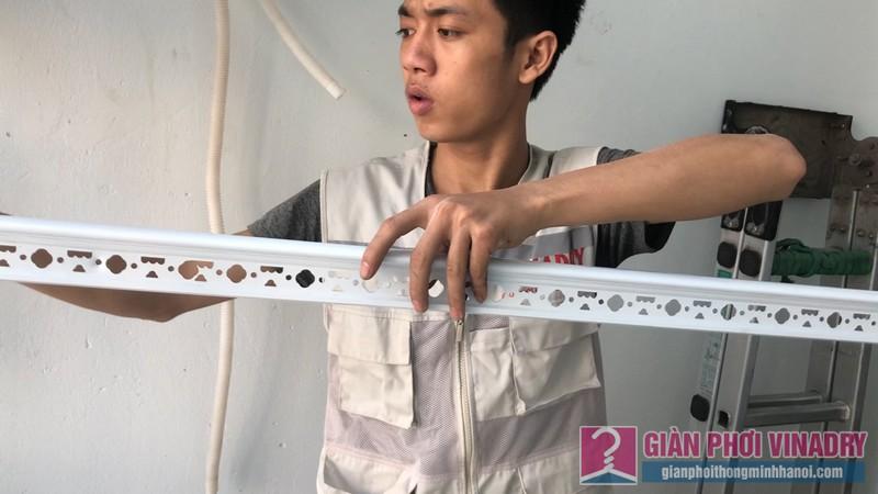 Lắp giàn phơi thông minh Ba Sao nhà chị Hiền, chung cư Rice City, Hoàng Mai, Hà Nội - 01