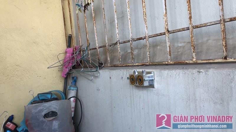 Lắp giàn phơi Hoàng Mai: bộ đôi giàn phơi Hoà Phát 999b nhà anh Thu, ngõ 533 Tam Trinh - 01