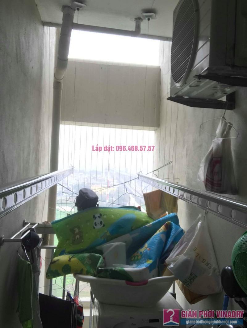 Lắp giàn phơi nhập khẩu nhà chị Thơm, chung cư Ecohome 1, Bắc Từ Liêm, Hà Nội - 03