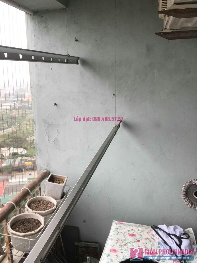 Sửa giàn phơi quần áo nhà chị Bình, chung cư CT2B Xa La, Hà Đông, Hà Nội - 04