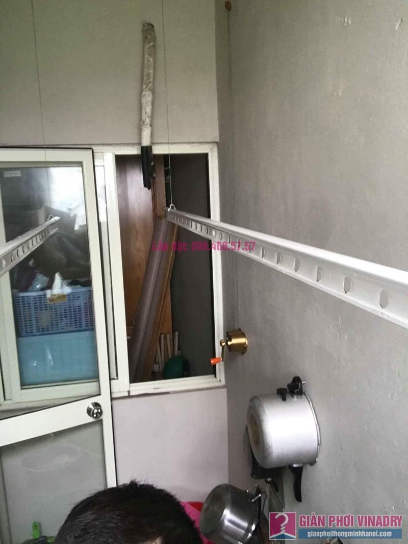 Lắp giàn phơi nhập khẩu nhà chị Thơm, chung cư Ecohome 1, Bắc Từ Liêm, Hà Nội - 05