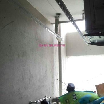 Lắp giàn phơi nhập khẩu nhà chị Thơm, chung cư Ecohome 1, Bắc Từ Liêm, Hà Nội