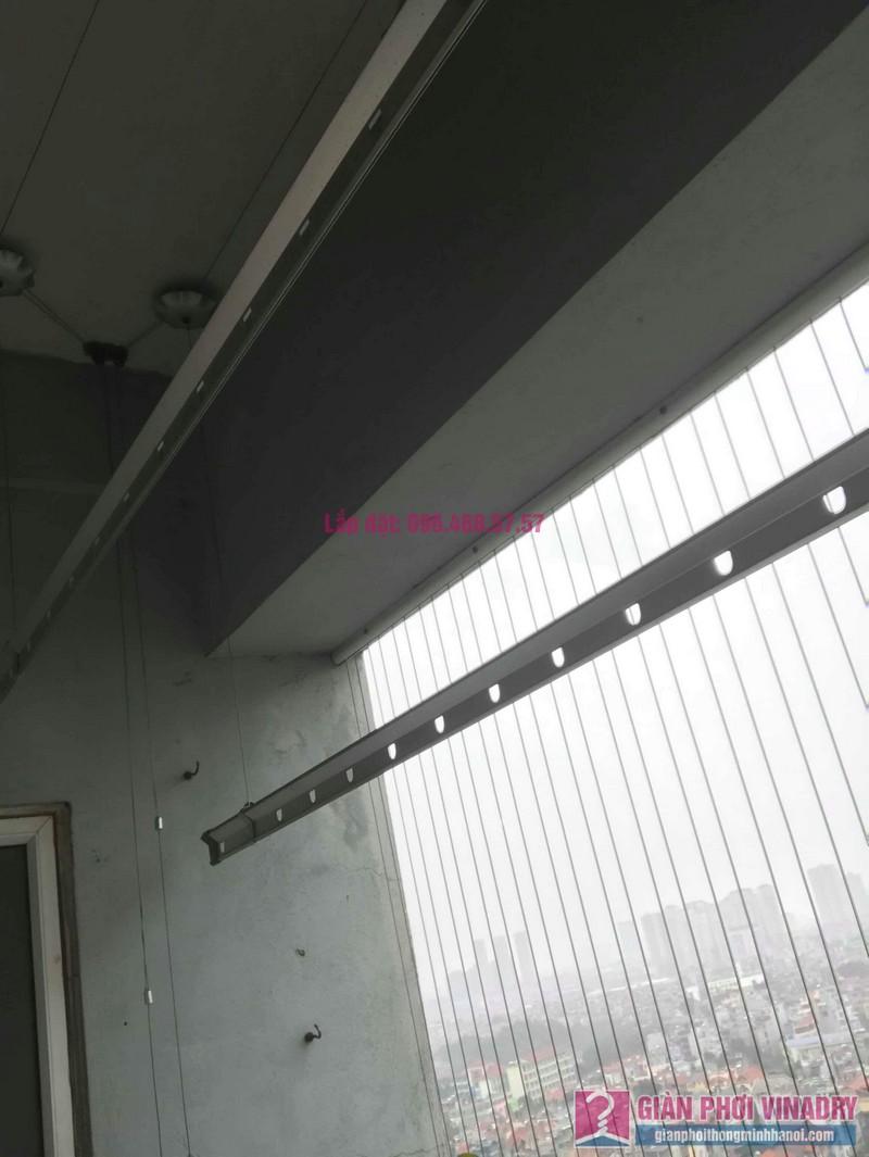 Sửa giàn phơi quần áo nhà chị Bình, chung cư CT2B Xa La, Hà Đông, Hà Nội - 08