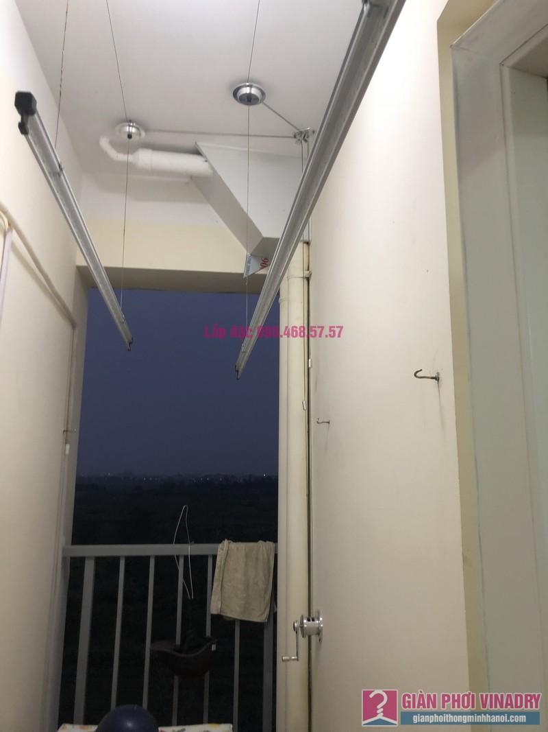 Lắp giàn phơi quần áo nhà chị Thiêm, chung cư Trâu Qùy, Gia Lâm, Hà Nội - 02