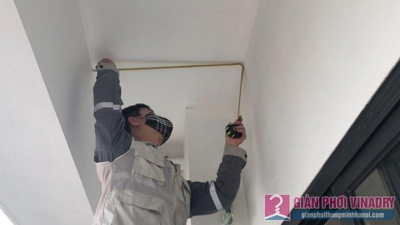 Lắp giàn phơi Hòa Phát HP900 nhà chị Mai, chung cư 219 Trung Kính, Cầu Giấy, Hà Nội - 01