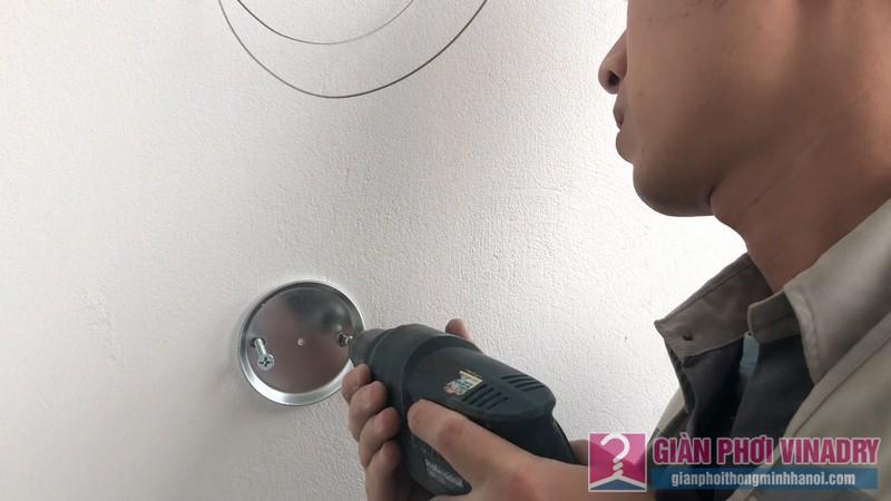 Lắp giàn phơi Hòa Phát HP900 nhà chị Mai, chung cư 219 Trung Kính, Cầu Giấy, Hà Nội - 04