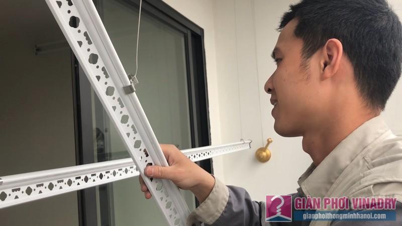 Lắp giàn phơi Hòa Phát HP900 nhà chị Mai, chung cư 219 Trung Kính, Cầu Giấy, Hà Nội - 08