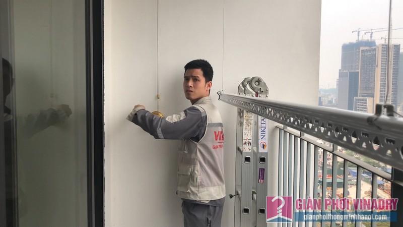 Lắp giàn phơi Hòa Phát HP900 nhà chị Mai, chung cư 219 Trung Kính, Cầu Giấy, Hà Nội - 10