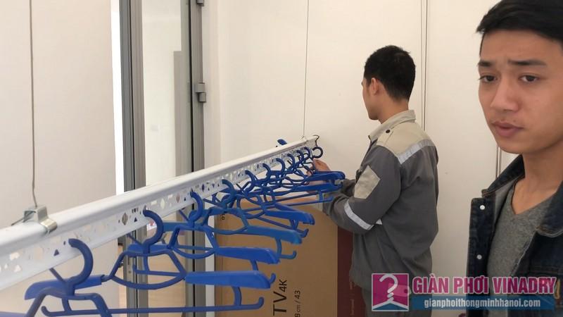 Lắp giàn phơi quần áo nhà chị Thêm, tòa A2 Vinhomes Gardenia, Từ Liêm, Hà Nội - 03