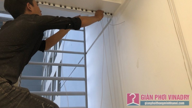 Lắp lưới an toàn ban công nhà chị Nguyệt, tòa A1, chung cư Vinhome Gardenia Mỹ Đình - 01