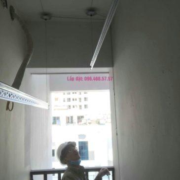 Lắp giàn phơi thông minh Long Biên nhà chị Thịnh, Phòng A1105, chung cư Valencia Garden