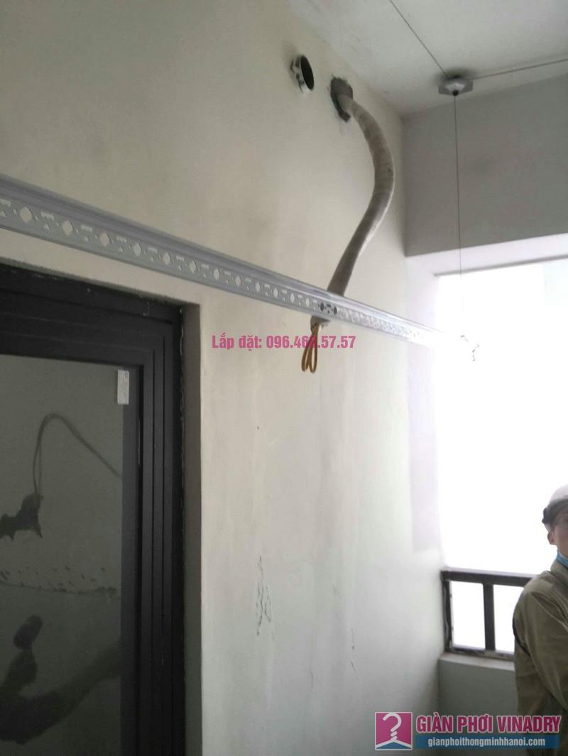 Lắp giàn phơi thông minh Long Biên nhà chị Thịnh, Phòng A1105, chung cư Valencia Garden - 02