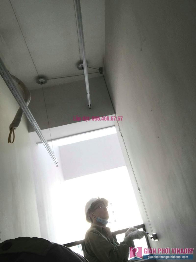 Lắp giàn phơi thông minh Long Biên nhà chị Thịnh, Phòng A1105, chung cư Valencia Garden - 05