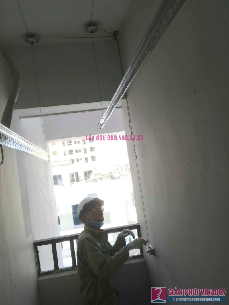 Lắp giàn phơi thông minh Long Biên nhà chị Thịnh, Phòng A1105, chung cư Valencia Garden - 06
