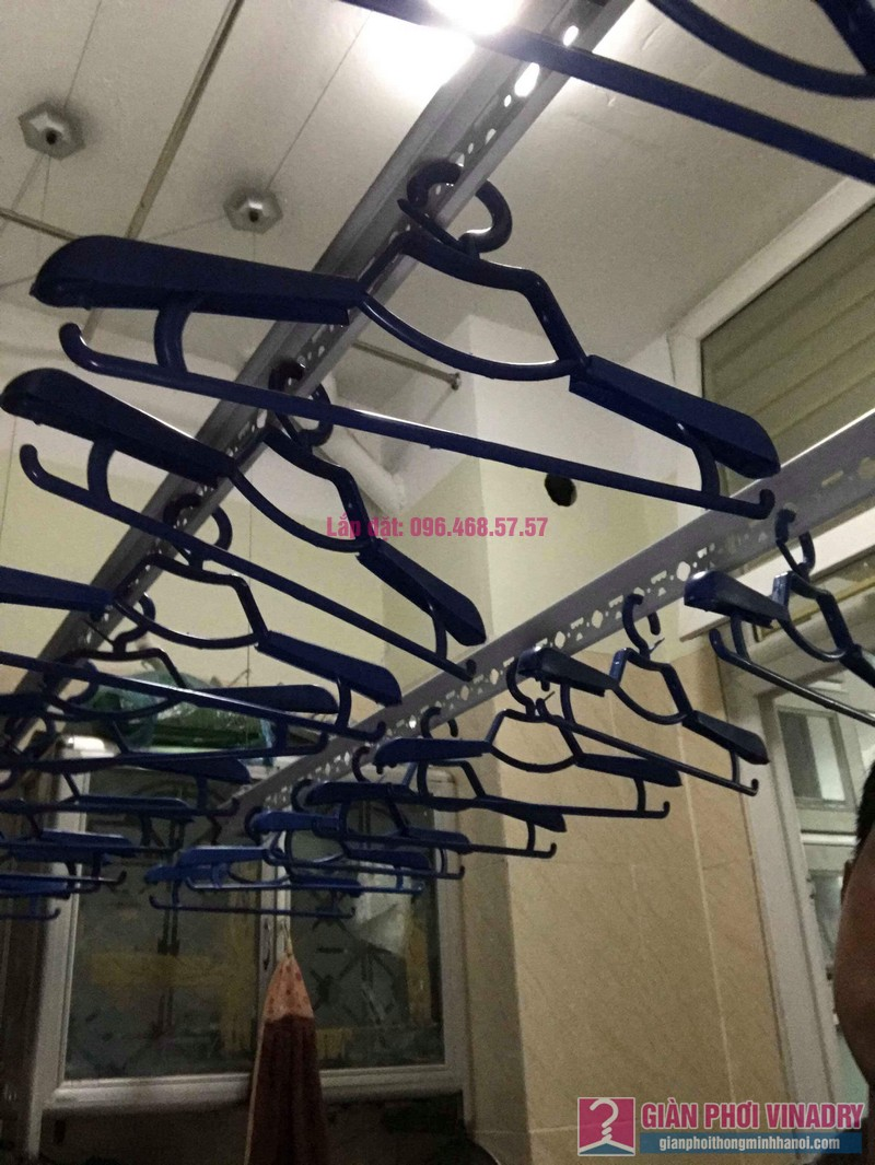 Sửa lỗi rối dây cáp giàn phơi nhà chị Minh, chung cư Hòa Bình Green, 505 Minh Khai - 03