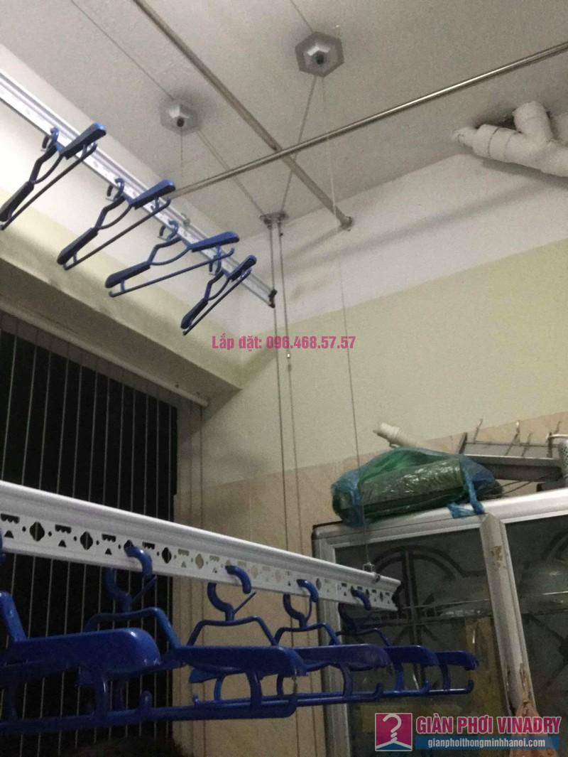 Sửa lỗi rối dây cáp giàn phơi nhà chị Minh, chung cư Hòa Bình Green, 505 Minh Khai - 09