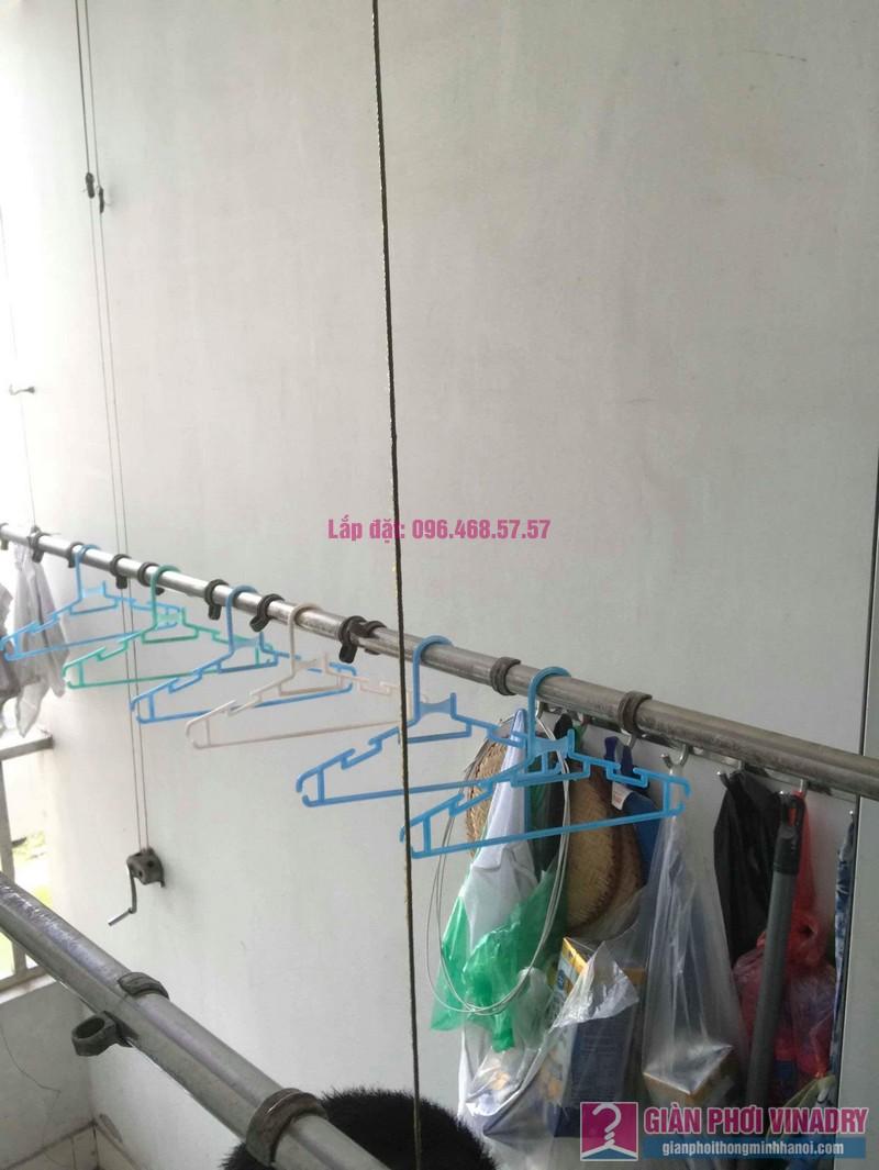 Sửa giàn phơi thông minh Hoàng Mai nhà chị Yến, chung cư Nơ 7, KĐT Pháp Vân - 06