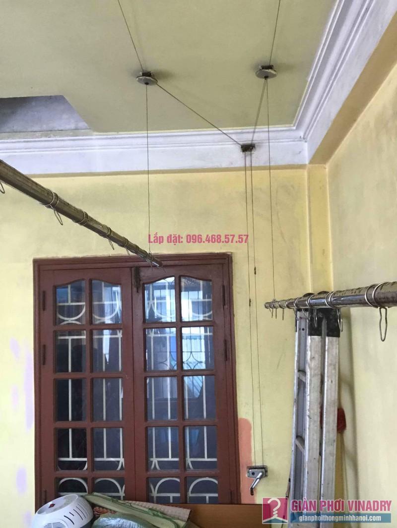 Thay dây cáp giàn phơi thông minh nhà chị Hiền, 40A, Ngõ 125 Thụy Khuê, Tây Hồ, Hà Nội - 06