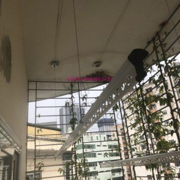 Lắp giàn phơi Cầu giấy nhà anh Hiệu, căn hộ 605 nhà N14, Ngõ 273 Trần Đăng Ninh