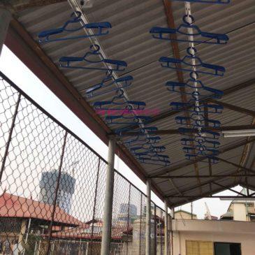Lắp giàn phơi cho trần mái tôn nhà anh Vui, ngõ 93 Vương Thừa Vũ, Thanh Xuân, Hà Nội