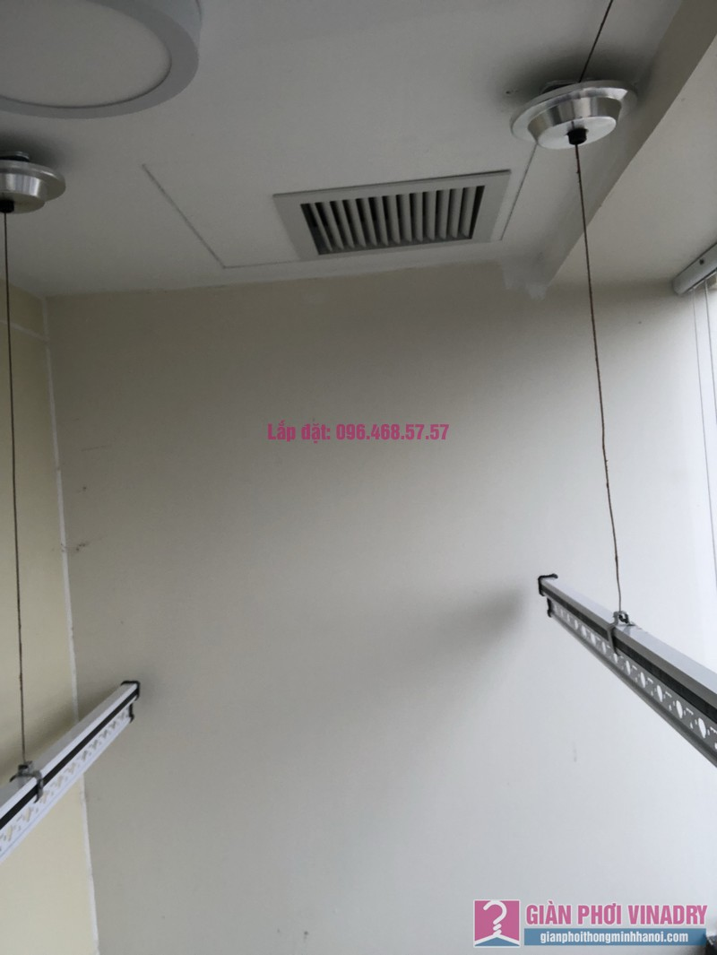 Lắp giàn phơi Hoàng Mai nhà chị Thiêm, Tòa C, chung cư Mandarin Garden 2 - 04