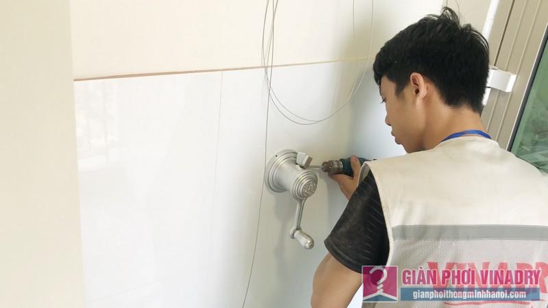 Lắp giàn phơi chung cư nhà chị Nhàn, Tòa B Mandarin Garden 2, Tân Mai, Hoàng Mai Hà Nội - 05