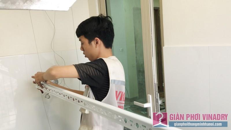 Lắp giàn phơi chung cư nhà chị Nhàn, Tòa B Mandarin Garden 2, Tân Mai, Hoàng Mai Hà Nội - 07