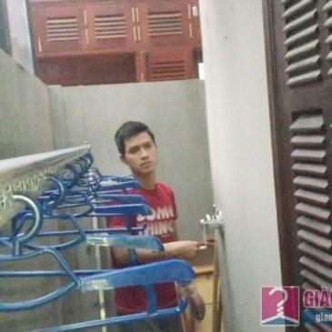 Lắp giàn phơi Tây Hồ nhà chị Ngoan, ngách 18, ngõ 50 Võng Thị