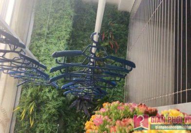 Lắp giàn phơi quần áo nhà anh Tài, tòa A3 chung cư Vinhomes Gardenia, Hà Nội