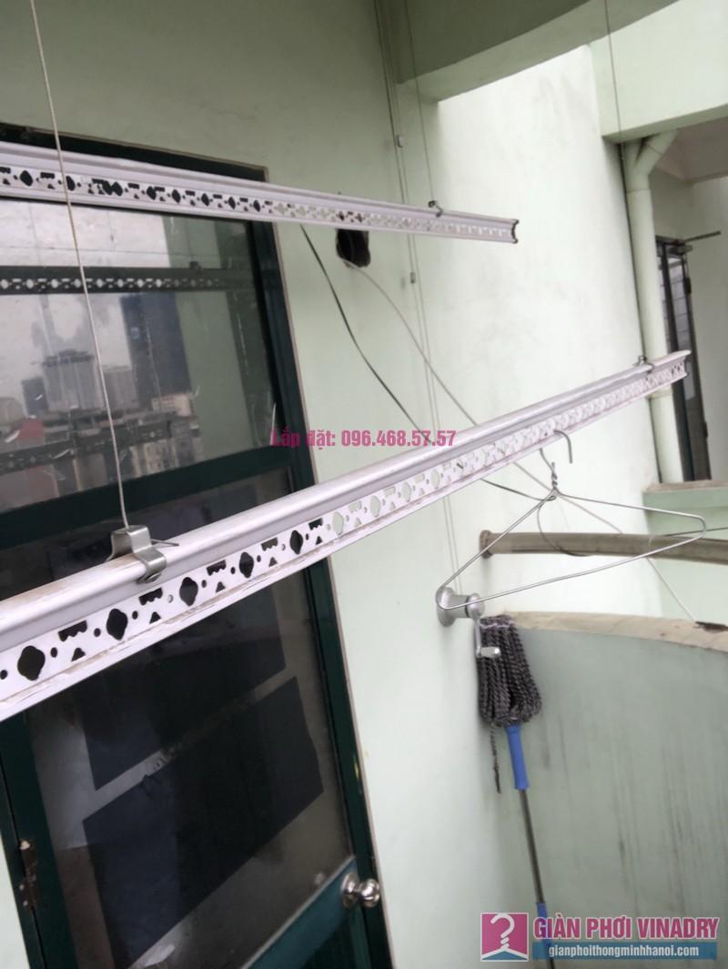 Sửa giàn phơi quần áo nhà chị Nhàn, chung cư X1, ngõ 140 Nguyễn Xiển, Thanh Xuân, Hà Nội -04