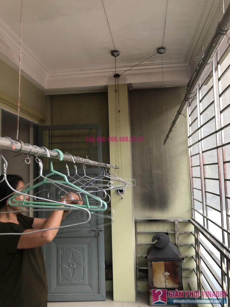 Sửa giàn phơi thông minh Cầu Giấy nhà chị Minh, số 20A/24/132 Cầu Giấy - 09