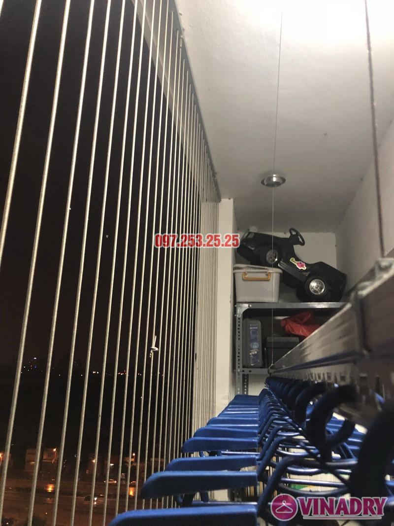 Lắp giàn phơi thông minh Hòa Phát nhà chị Minh, Căn B1410, chung cư Hateco Hoàng Mai - 03