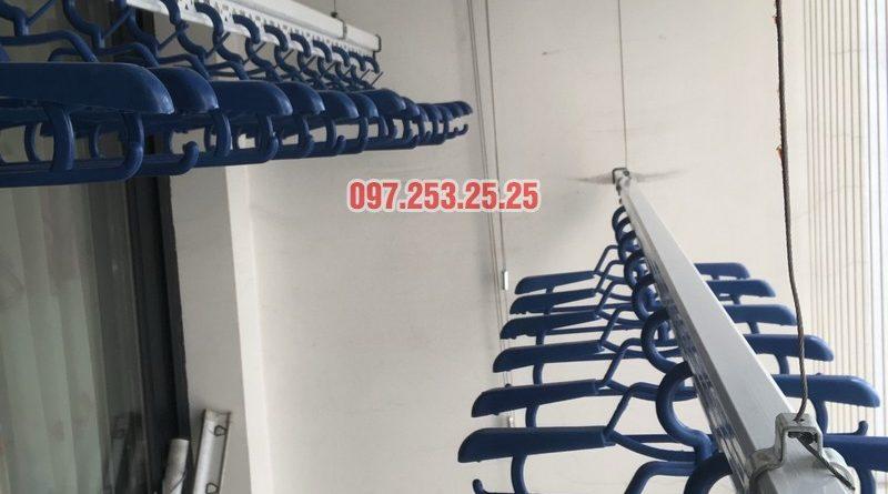 Lắp giàn phơi quần áo tại Times City nhà chị Thiên, căn 2706 tòa T5 - 07