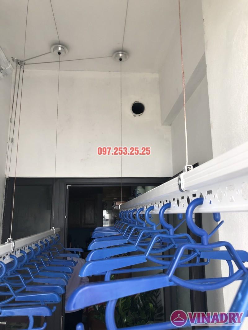 Lắp giàn phơi thông minh Hoàng Mai nhà anh Thiêm, căn B807 chung cư Hateco - 01