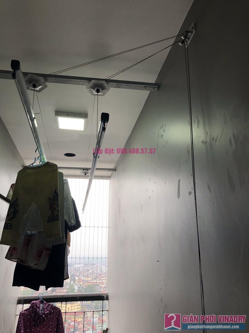 Lắp giàn phơi thông minh Hà Đông nhà chị Thanh, chung cư GoldSilk Complex - 04