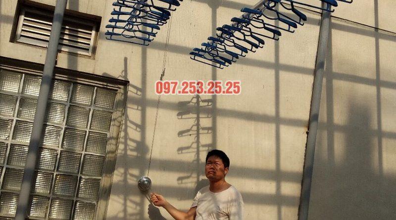Lắp giàn phơi Hòa Phát nhà chú Thiện, số 65B Tuệ Tĩnh, Hai Bà Trưng, Hà Nội - 02