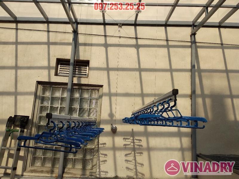 Lắp giàn phơi Hòa Phát nhà chú Thiện, số 65B Tuệ Tĩnh, Hai Bà Trưng, Hà Nội - 05