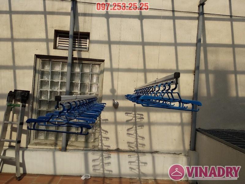Lắp giàn phơi Hòa Phát nhà chú Thiện, số 65B Tuệ Tĩnh, Hai Bà Trưng, Hà Nội - 07