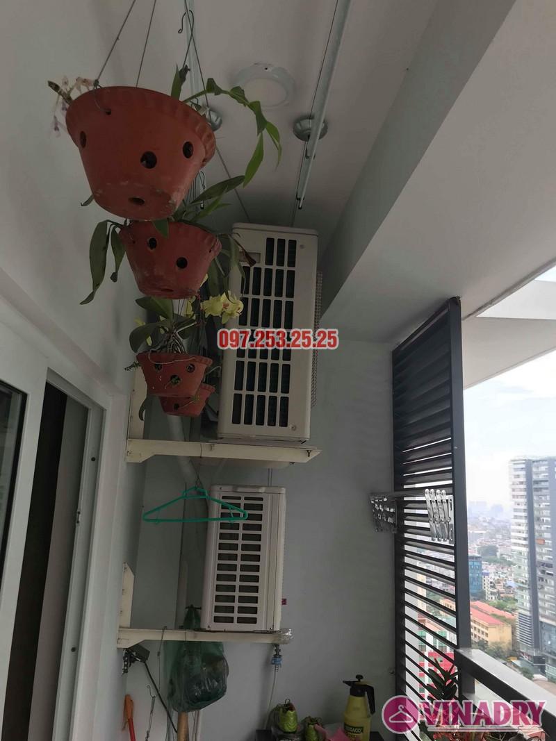 Lắp giàn phơi KS950 nhà anh Tiến, chung cư Handi Resco Lê Văn Lương, Thanh Xuân, Hà Nội - 02