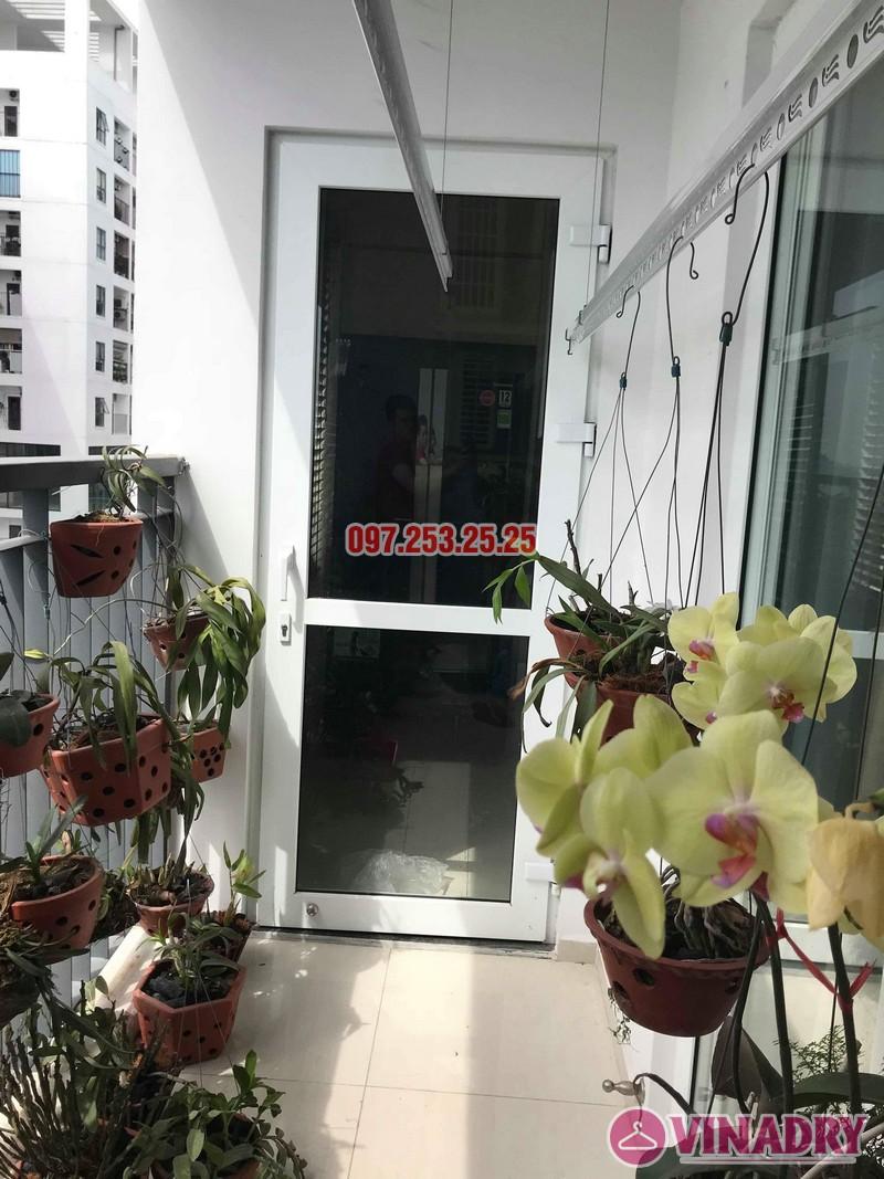 Lắp giàn phơi KS950 nhà anh Tiến, chung cư Handi Resco Lê Văn Lương, Thanh Xuân, Hà Nội - 04
