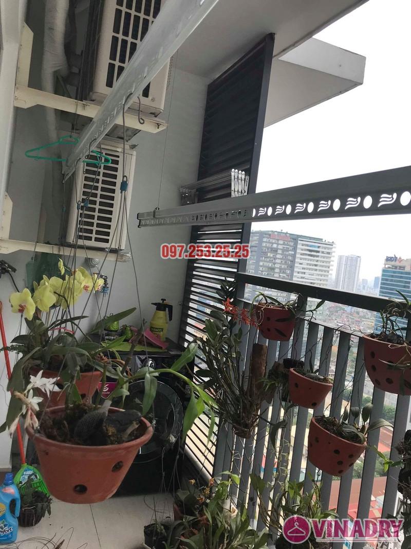 Lắp giàn phơi KS950 nhà anh Tiến, chung cư Handi Resco Lê Văn Lương, Thanh Xuân, Hà Nội - 05