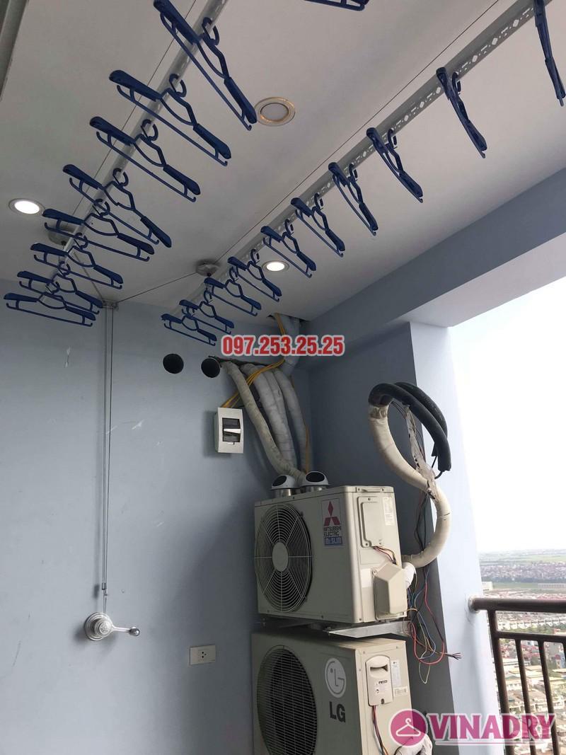 Lắp giàn phơi thông minh Hà Đông nhà chị Dịu, chung cư FLC Star Tower - 02