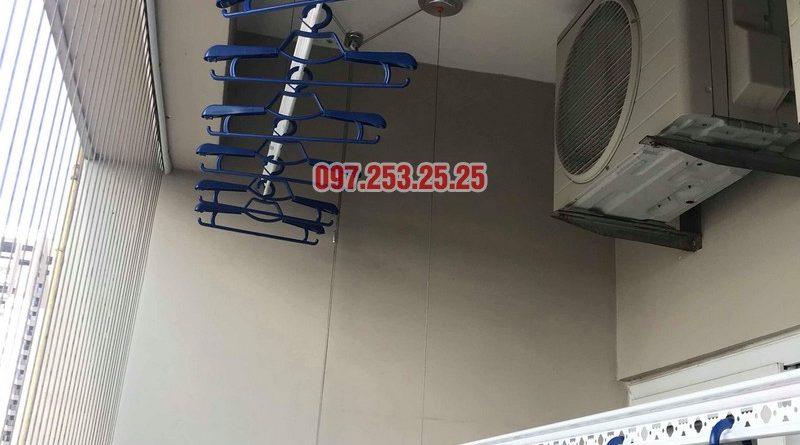 Lắp giàn phơi Hòa Phát nhà chị Thiện, tòa 24T, 85 Vũ Trọng Phụng, Thanh Xuân, Hà Nội - 09