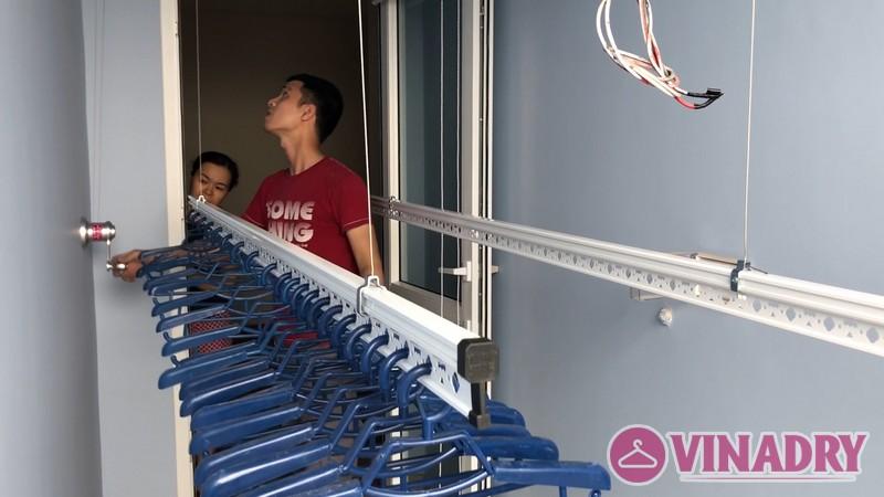 Lắp giàn phơi thông minh Hà Đông nhà chị Khuyên, chung cư FLC Star Tower, số 418 Quang Trung - 02
