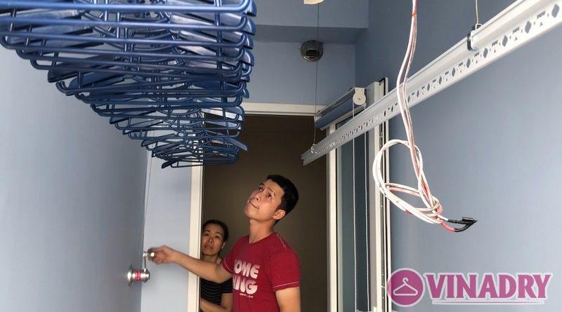 Lắp giàn phơi thông minh Hà Đông nhà chị Khuyên, chung cư FLC Star Tower, số 418 Quang Trung - 03