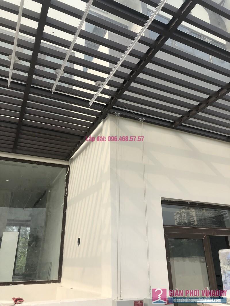 Lắp giàn phơi bấm điện nhà anh Trung, Biệt thự khu Q Ciputra, Tây Hồ, Hà Nội- 09