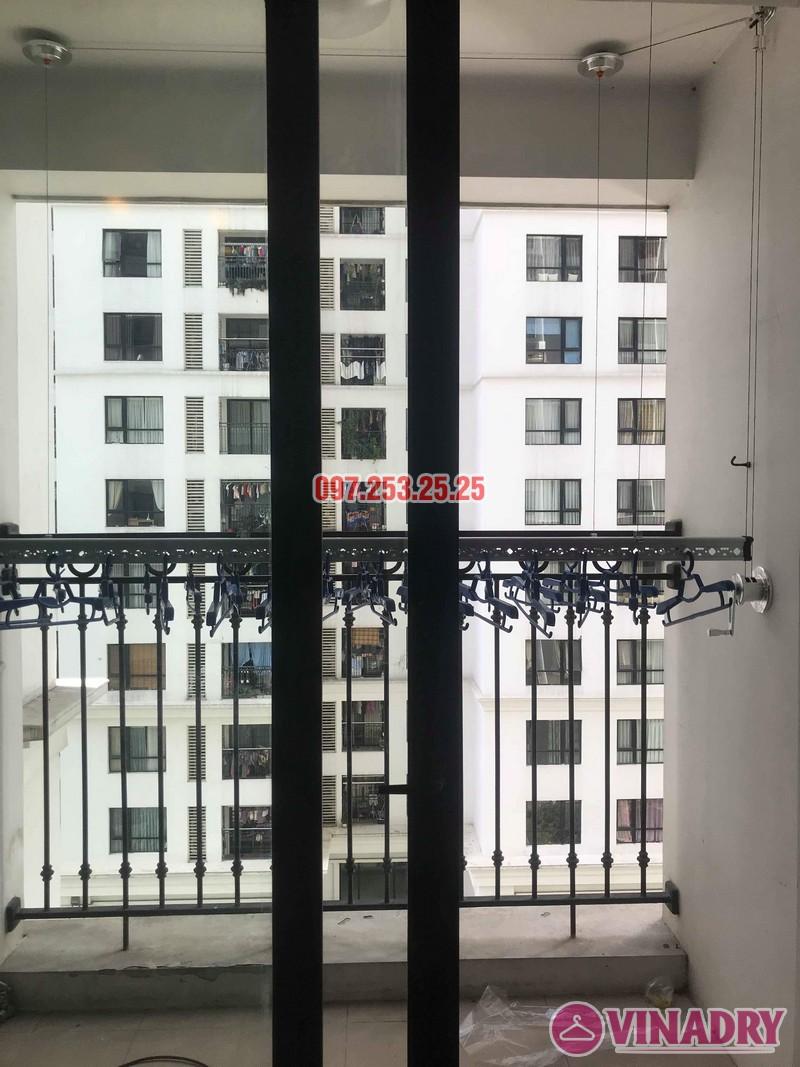 Lắp đặt giàn phơi thông minh tại Times City nhà chị Nhung, tòa T7 - 01