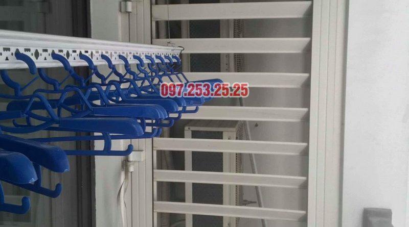 Lắp đặt giàn phơi thông minh tại Times City nhà chị Nhung, tòa T7 - 05