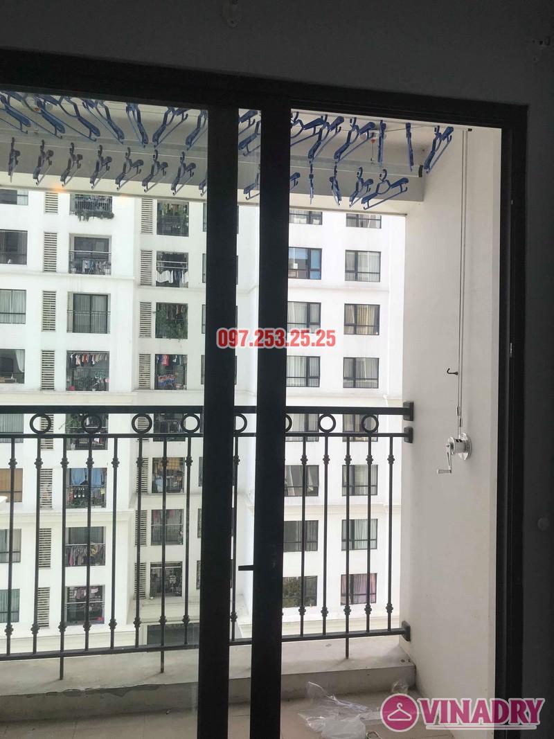 Lắp đặt giàn phơi thông minh tại Times City nhà chị Nhung, tòa T7 - 07
